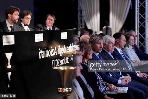 Pavel Nedved attends Juventus Shareholders Meeting at Allianz Stadium on October 24 2017 in Turin Italy