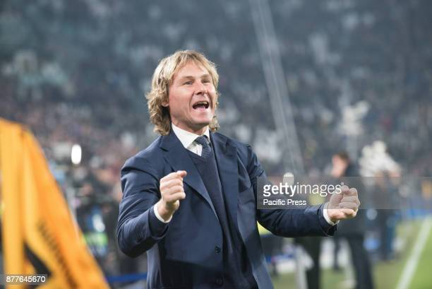 Pavel Nedved during the Champions League match Juventus FC vs Barcellona FC at the Juventus Stadium The final score is 00