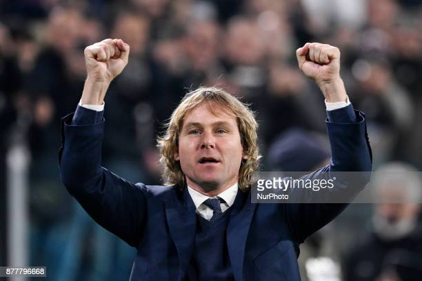 Pavel Nedved Juventus Legend during the UEFA Champions League match between Juventus and Barcelona at the Juventus Stadium Turin Italy on 22 November...