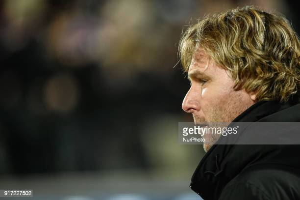 Pavel Nedved of Juventus during the Serie A match between Fiorentina and Juventus at Stadio Artemio Franchi Florence Italy on 9 February 2018