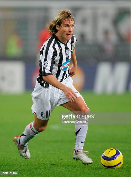 Pavel Nedved of Juventus during the UEFA Champions League Group A match between Juventus and Rapid Vienna on September 15 2005 at the Stadio Delle...