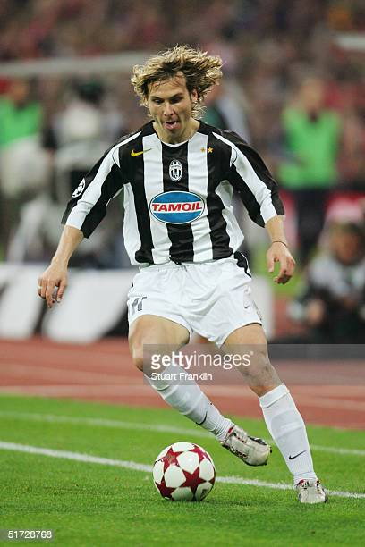 Pavel Nedved of Juventus during the UEFA Champions League group C match between FC Bayern Munich and Juventus at The Olympic Stadium on November 3...