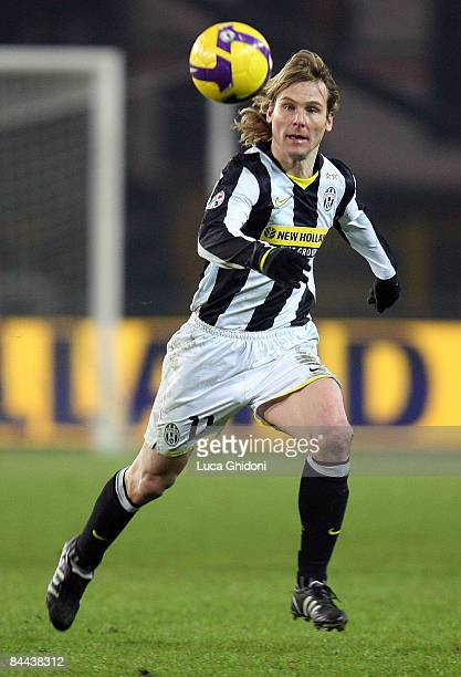 Pavel Nedved of Juventus eyes the ball during the Serie A match between FC Juventus and ACF Fiorentina at the Olympic stadium on January 24 2009 in...