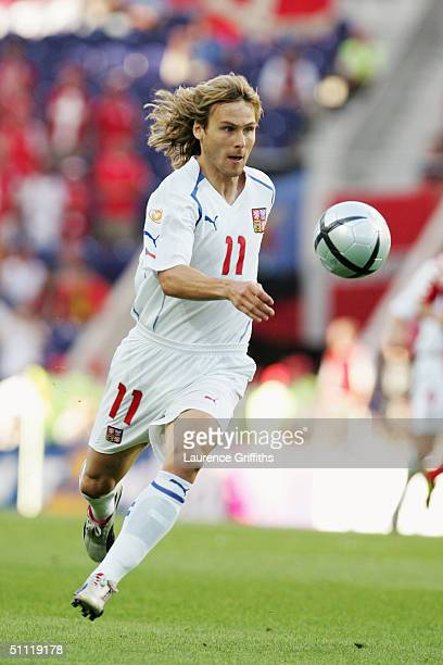 Pavel Nedved of the Czech Republic in action during the UEFA Euro 2004, Quarter Final match between Czech Republic and Denmark at the Dragao Stadium...