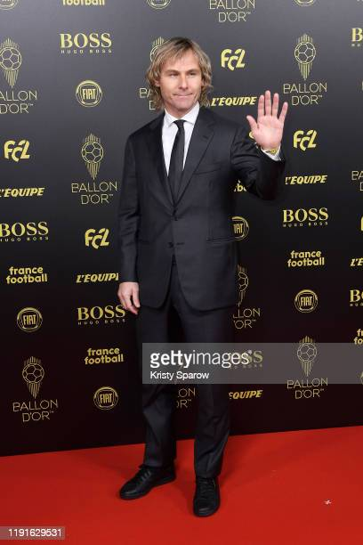 Pavel Nedved poses on the red carpet during the Ballon D'Or Ceremony at Theatre Du Chatelet on December 02, 2019 in Paris, France.
