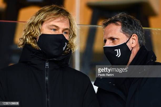 Pavel Nedved vice-president and Fabio Paratici sports manager of Juventus before the Serie A match between Genoa CFC and Juventus Fc at Stadio Luigi...