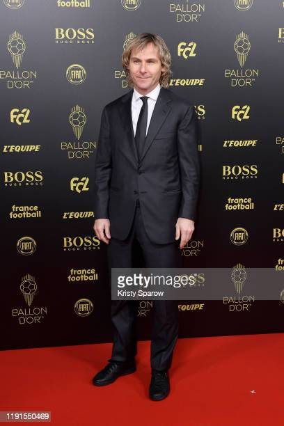 Pavel Nedved walks the red carpet during the Ballon D'Or Ceremony at Theatre Du Chatelet on December 02, 2019 in Paris, France.