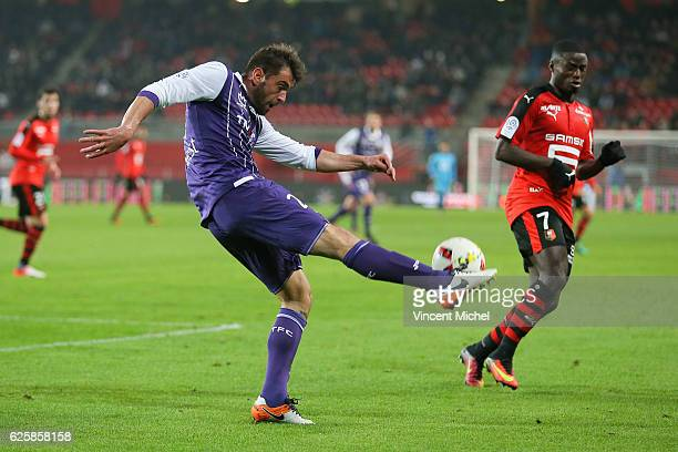 Pavel Ninkov of Toulouse during the French Ligue 1 match between Rennes and Toulouse at Roazhon Park on November 25, 2016 in Rennes, France.