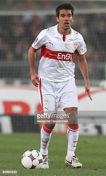 Pavel Pardo of Stuttgart runs with the ball during the Bundesliga match between VfB Stuttgart and Schalke 04 at the Mercedes Benz Stadium on November...