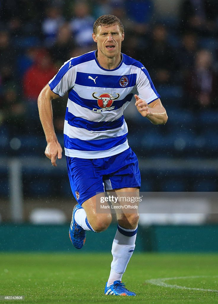 Pavel Pogrebnyak of Reading during the Pre Season Friendly match between Reading and Swansea City at Adams Park on July 24, 2015 in High Wycombe, England.