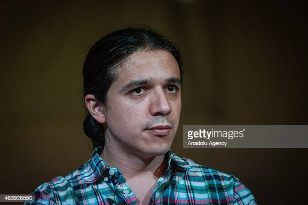 Pavel Ramirez of HIJOS Civil Organization during the press conference of the members of HIJOS Civil Organization on the occasion of its 15th...