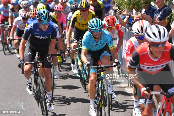 Pavel Sivakov of of Russia and Team Sky / Manuele Boaro of Italy and Astana Pro Team / during the 5th Cadel Evans Great Ocean Road Race Elite Men a...