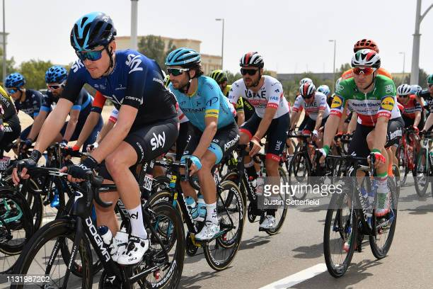 Pavel Sivakov of Rusia and Team Sky / Manuele Boaro of Italy and Astana Pro Team / Elia Viviani of Italy and Team DeceuninckQuickStep / during the...