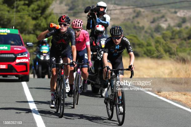 Pavel Sivakov of Russia and Team INEOS Grenadiers, Lawson Craddock of United States and Team EF Education - Nippo and Michael Storer of Australia and...