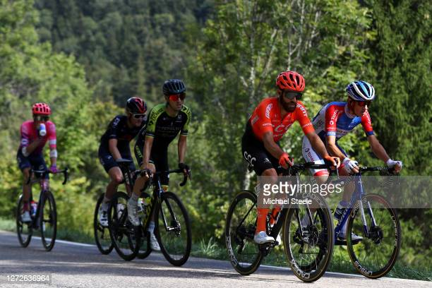 Pavel Sivakov of Russia and Team INEOS Grenadiers / Mikel Nieve Ituralde of Spain and Team Mitchelton - Scott / Simon Geschke of Germany and CCC Team...