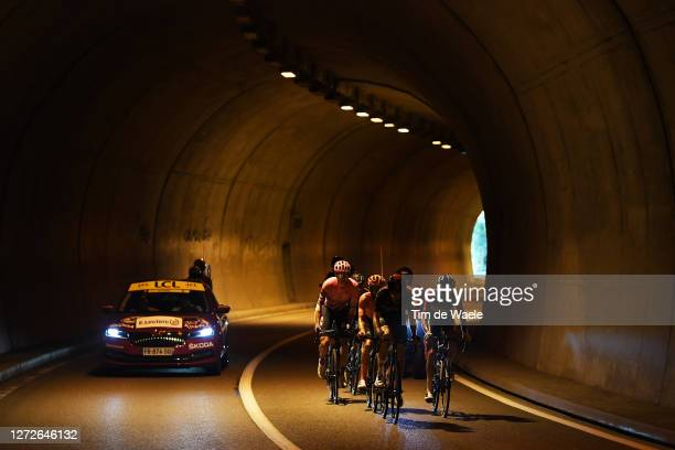 Pavel Sivakov of Russia and Team INEOS Grenadiers / Neilson Powless of The United States and Team EF Pro Cycling / Romain Sicard of France and Team...