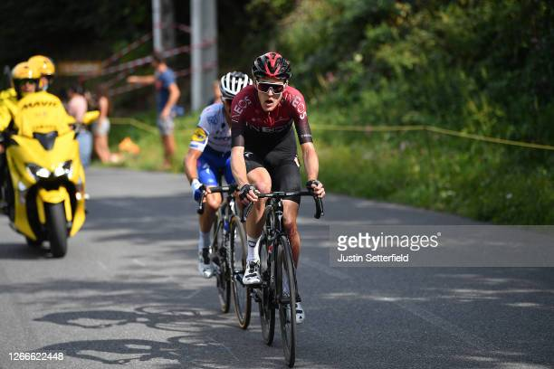 Pavel Sivakov of Russia and Team Ineos / Julian Alaphilippe of France and Team Deceuninck - Quick-Step / Breakaway / during the 72nd Criterium du...