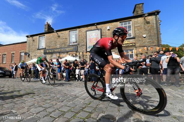 Pavel Sivakov of Russia and Team INEOS / Mathieu van der Poel of The Netherlands and Corendon _ Circus Cycling Team Green Leader Jersey / Matteo...
