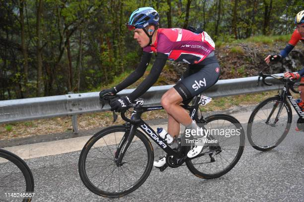 Pavel Sivakov of Russia and Team Sky Fuchsia Leader Jersey / during the 43rd Tour of the Alps 2019, Stage 5 a 147,8km stage from Kaltern/Caldaro to...