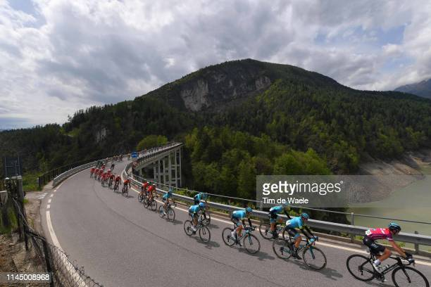 Pavel Sivakov of Russia and Team Sky Fuchsia Leader Jersey / Nikita Stalnov of Kazahkstan and Astana Pro Team / Pello Bilbao López De Armentia of...