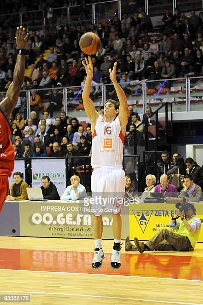 Pavel Slezak of CEZ Nymburk in action during the Eurocup Basketball Regular Season 20092010 Game Day 1 between Lauretana Biella vs CEZ Basketball...