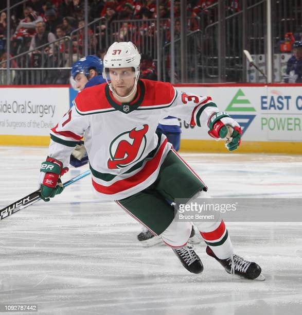 Pavel Zacha of the New Jersey Devils skates against the Toronto Maple Leafs at  the Prudential 44af83a11