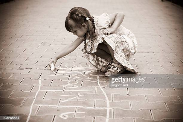 pavement chalk - sepia toned stock pictures, royalty-free photos & images