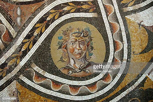 Pavement mosaic depicting the god Bacchus Antonine Period 138 193 AD Genazzano Villa Rome