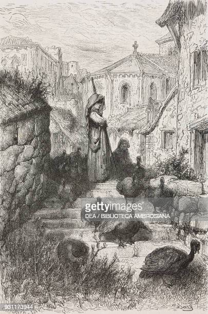 Pavera chicken keeper near Salamanca drawing by Gustave Dore from Travels in Spain by Gustave Dore and Charles Davillier from Il Giro del mondo...