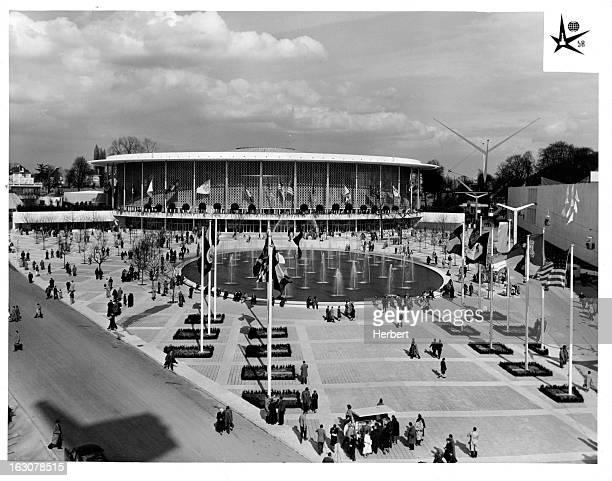 USA Pavilion at The Brussels World's Fair Brussels in Belgium 1958
