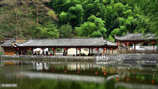 pavilion in the bamboo forest 01 - anhui province stock pictures, royalty-free photos & images