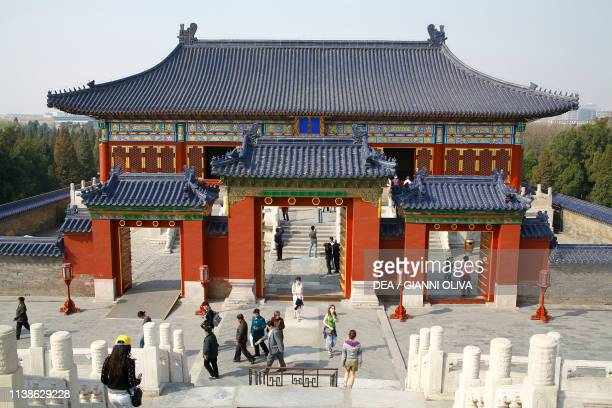 Pavilion of the Temple of Heaven or Altar of Heaven Beijing. China, 15th century.
