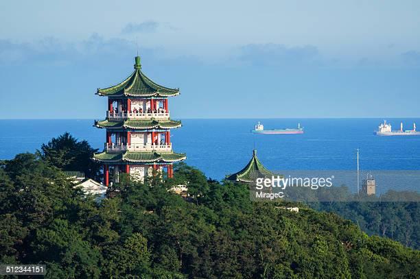 Pavilion on Qingdao Xiaoyushan Hill