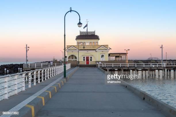 pavilion on st kilda pier close to melbourne, australia - pier stock pictures, royalty-free photos & images