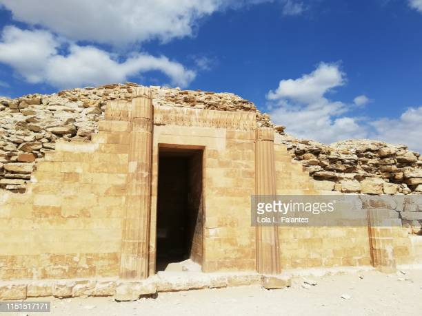 Pavillion at the funerary complex of pharaoh Djoser. Saqqara