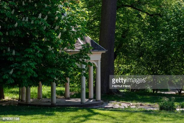 pavillion in an old garden park - thuringia stock pictures, royalty-free photos & images