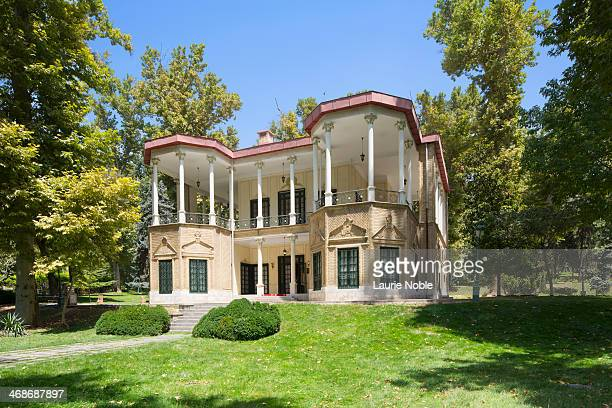 pavillion, niavaran palace complex, tehran, iran - tehran stock pictures, royalty-free photos & images