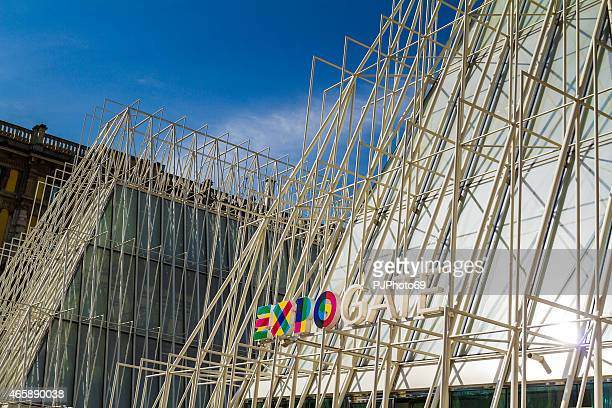 pavillion to provide information on expo2015 (milan - italy) - pjphoto69 stock pictures, royalty-free photos & images