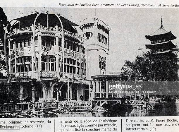 Pavillon Bleu restaurant designed by Rene Dulong Universal Exhibition in Paris 1900 France 20th century Paris Bibliothèque Des Arts Decoratifs