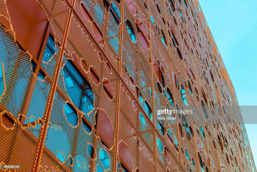 Pavillon des Salins, Orange Cube in Lyon : Stock-Foto