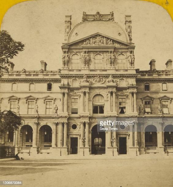 Pavillon du nouveau Louvre, Albert Hautecoeur , 1871-1889, Albumen silver print.