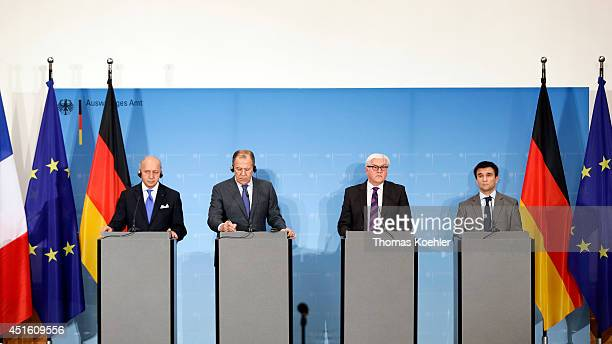 Pavlo Klimkin Ukrainian Minister of Foreign Affairs FrankWalter Steinmeier German Minister for Foreign Affairs Sergey Lavrov Russian Minister of...