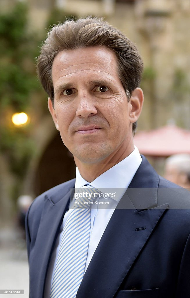 Pavlos, Crown Prince of Greece attends the official opening of the 'Der Weg zur Krone - Das Koenigreich Hannover und seine Herrscher' ('The Road to the Crown - The Kingdom of Hanover and Its Rulers) exhibition at Schloss Marienburg at Schloss Marienburg on April 30, 2014 in Pattensen, Germany. The city of Hanover is scheduled to hold a celebration for the British Royal Family to mark the '300-year personal union' in May and June this year. Prince Andrew, Duke of York, is expected to take part in the celebrations in June.