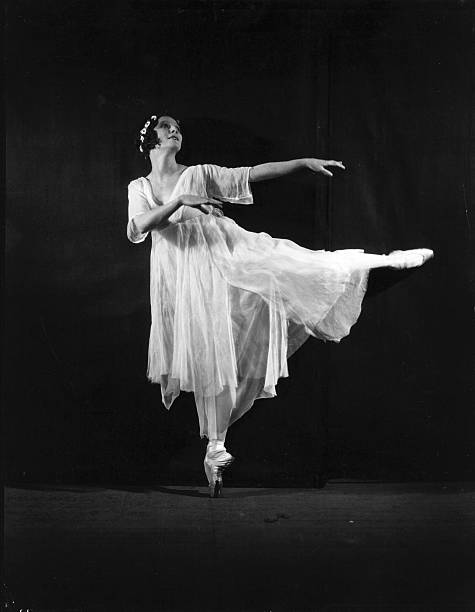 Russian ballerina Anna Pavlova performs in a production...