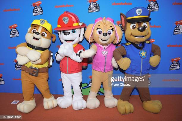 Paw Patrol attend the Nickelodeon Kids' Choice Awards Mexico 2018 at Auditorio Nacional on August 19, 2018 in Mexico City, Mexico.