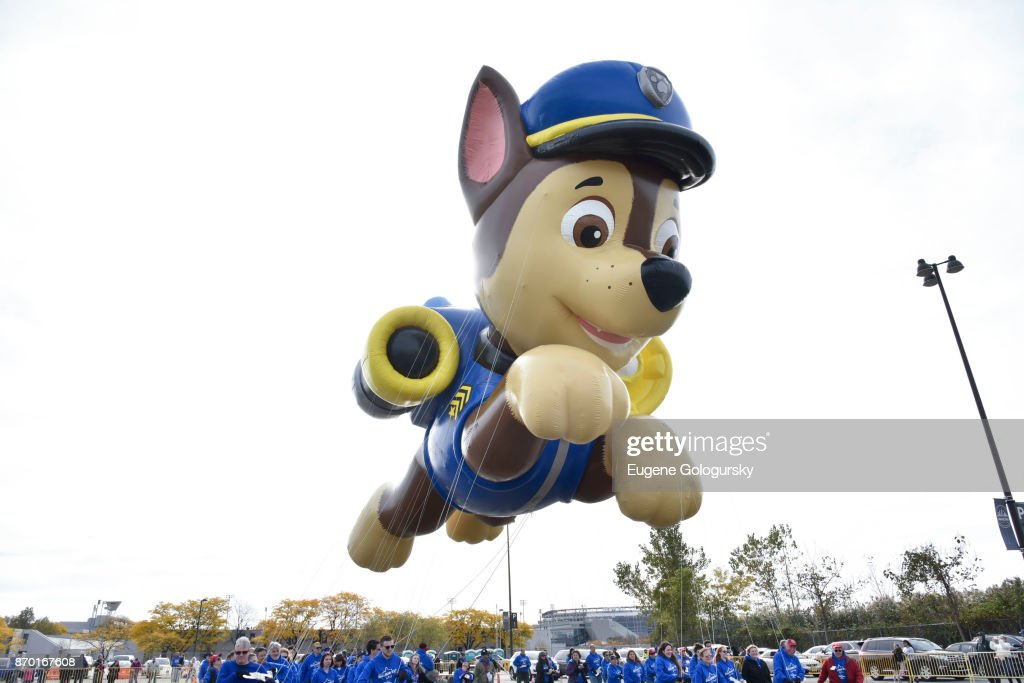 Paw Patrol debuts as a giant balloon during Macy's Balloonfest ahead of the 91st Annual Macy's Thanksgiving Day Parade on November 4, 2017 in East Rutherford City.