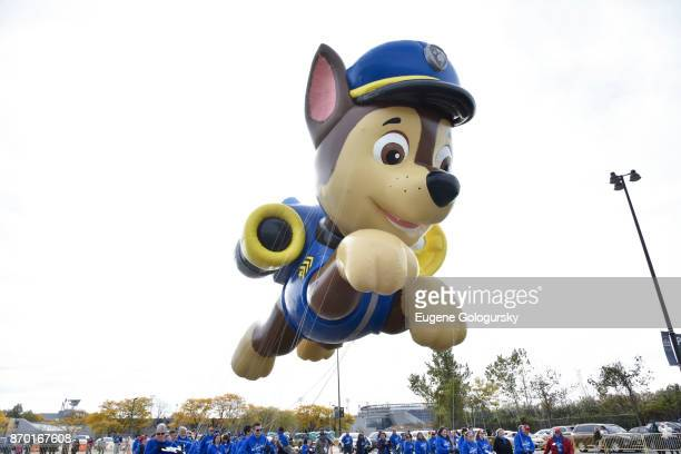 Paw Patrol debuts as a giant balloon during Macy's Balloonfest ahead of the 91st Annual Macy's Thanksgiving Day Parade on November 4, 2017 in East...