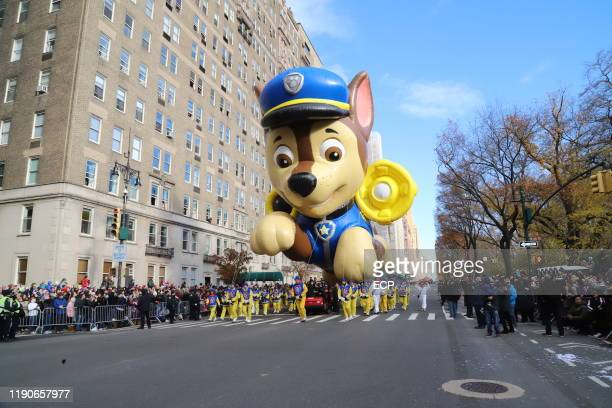 Paw Patrol float at the Macy's Thanksgiving Day Parade on November 28, 2019 in New York City.