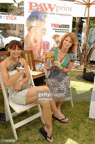 Paw Print Magazine during The Silver Spoon Hosts 4th Annual Dog and Baby Buffet Day One at Wattles Mansion in Hollywood California United States...