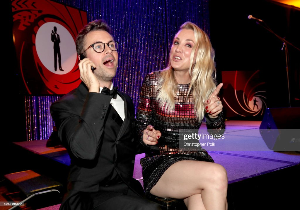 Paw Works Celebrity Ambassador Brad Goreski and Paw Works Celebrity Ambassador/Board Member Kaley Cuoco attend the James Paw 007 Ties & Tails Gala at the Four Seasons Westlake Village on March 10, 2018 in Westlake Village, California.